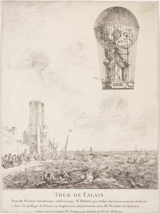 'Tour de Calais'; the ascent of De Rozier's 'Royal Balloon', 15 June 1785.