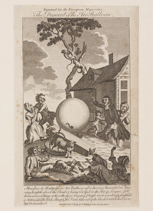 'The Descent of the Air Balloon', 19 September 1783.