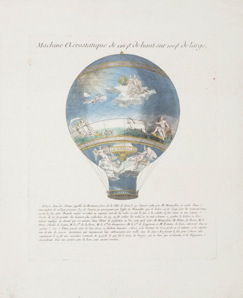 'Le Fleselles' hot-air balloon, January 1784.