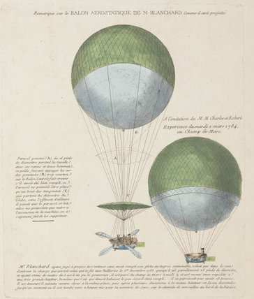 Blanchard's design for the 'Vaiseau Volant' balloon, 1784.