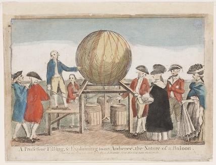 Demonstration of ballooning, c 1784.