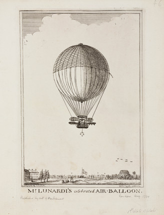 'Mr Lunardi's Celebrated Air-Balloon', August 1784.