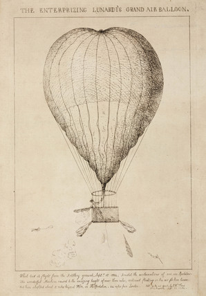 'The Enterprizing (sic) Lunardi's Grand Air Balloon', 1784.