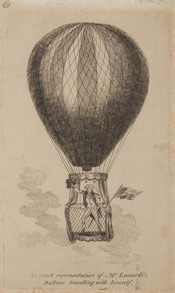 'An Exact Representation of Mr Lunardi's Balloon', 1784.