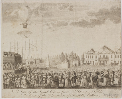 Arnold's parachute accident, 31 August 1785.
