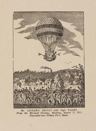 'Mr Sadler's Ascent with Captain Paget', 12 August 1811.