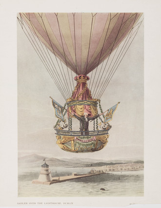 Sadler's balloon over Dublin, Ireland, 1 October 1812.