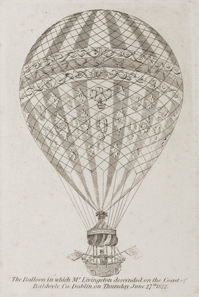 Livingston's balloon, 1822.