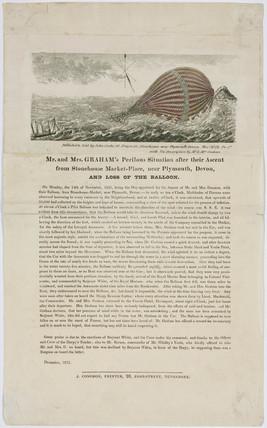 Mr and Mrs Graham's balloon ascent, 14 November 1825.