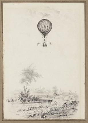 'Ballooning at Dulwich', Greater London, 1829.