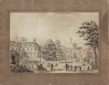 'South View of the Rectory-House, Church', 1831.