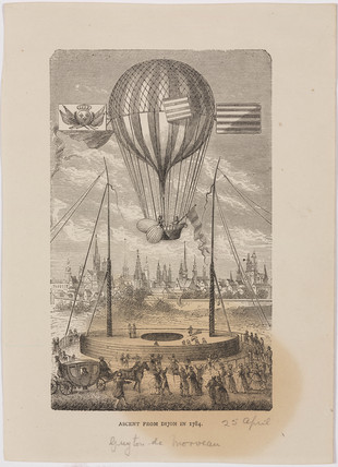 'Ascent from Dijon', France, 25 April 1784.