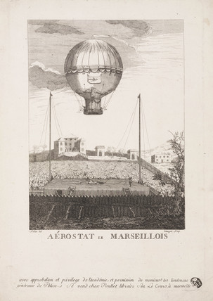 Ascent of the 'Marseillos' aerostat, 8 May 1784.