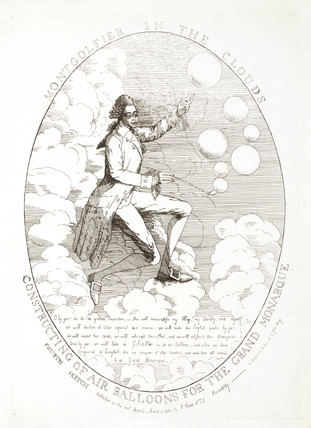 One of the Montgolfier brothers, French aeronautical inventors, 1784.