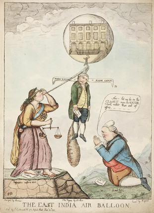 'The East India Air Balloon', 1783.