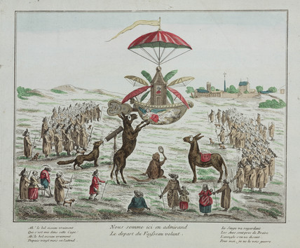 The ascent of Blanchard's 'Vaiseau Volant', 2 March 1784.