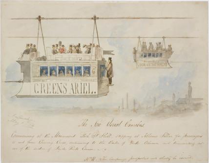 'The New aerial Omnibus', 1854.