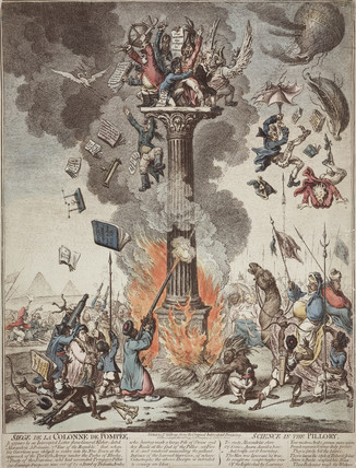 'Siege of the Pompeii Column', c 1799.