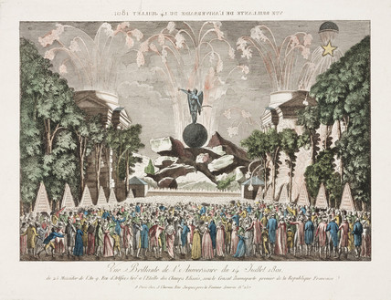 Bastille Day celebrations in Paris, 14 July, 1801.
