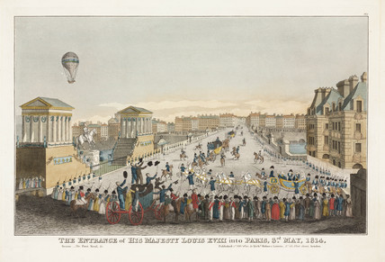 'The Entrance of His Majesty Louis XVIII into Paris', 3 May 1814.