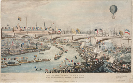 'The Opening of New London Bridge', 1 August 1831.