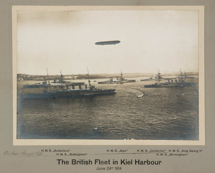 'The British Fleet in Kiel Harbour', Germany, 24th June 1914.