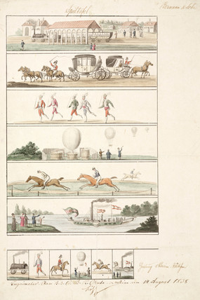 Balloon illustrations, 1838.
