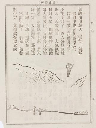 Ballooning scene, Chinese, 19th century.