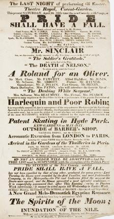 Handbill advertising a theatre programme, 19th century.