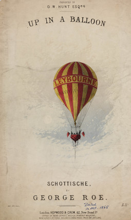'Up in a Balloon', 1868.