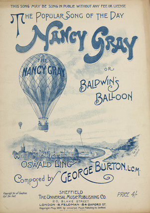 'The Popular Song of the Day: Nancy Gray or Baldwin's Balloon', 1895.