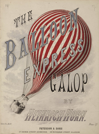 'The Balloon Expres Galop', 1880s.