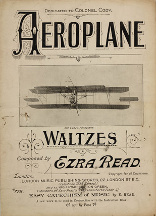 'aeroplane Waltzes', sheet music, 1910.