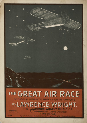 'The Great Air Race', sheet music, 1911.