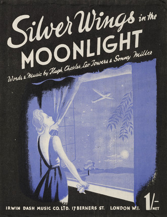 'Silver Wings in the Moonlight', sheet music cover, 1943.