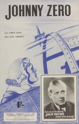 'Johnny Zero', sheet music cover, 1942.