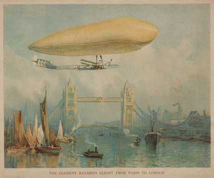 'The Clement-Bayard's flight from Paris to London', c 1908.