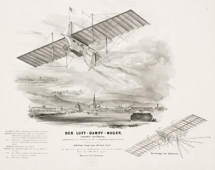 Henson's 'aerial Steam Carriage', c 1842.