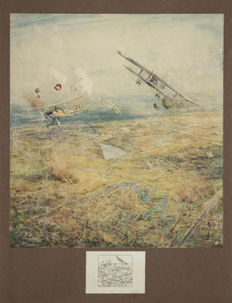 aerial battle over Ypres, Belgium, 1914-1918.
