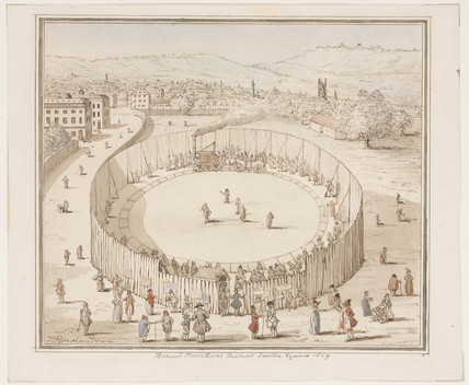 'Richard Trevithick's Railroad, Euston Square, 1809', 1808.