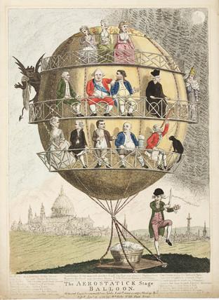 'The aerostatick Stage Balloon', 1783.