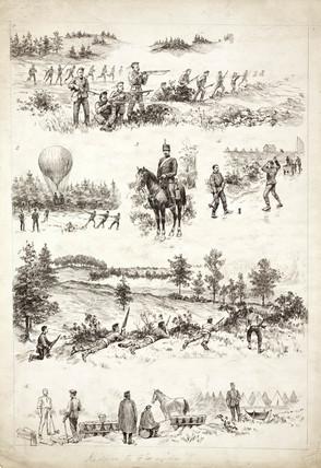 Military duties, c 1890.