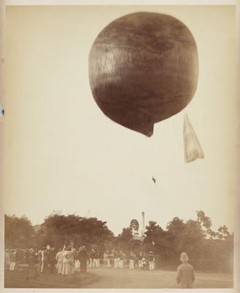 A balloon ascending, 1885-1890.