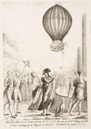 Lunardi's ascent in Madrid, Spain, 12 August 1792.