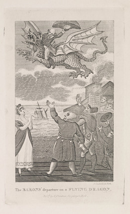 'The Baron's Departure on a Flying Dragon', early 19th century.