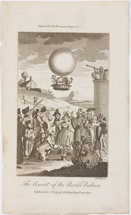 'The Ascent of the aerial Balloon', 19 September 1783.