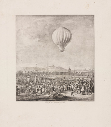 The ascent of the first female aeronaut, 4 June 1784.