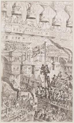 'Overpopulation', satirical ballooning sketch, 1851.
