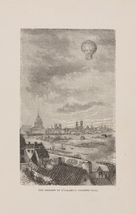 'The Balloon of d'Arlandes crosing Paris', 1783.