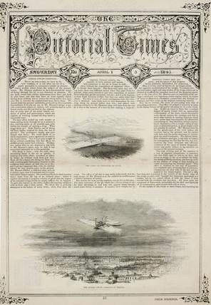 'aerial Steam Carriage', 1843.